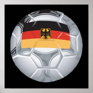 German Soccer Ball Poster