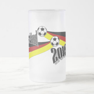 german soccer frosted glass mug
