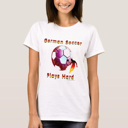 German Soccer Sunball Ladies T-Shirt