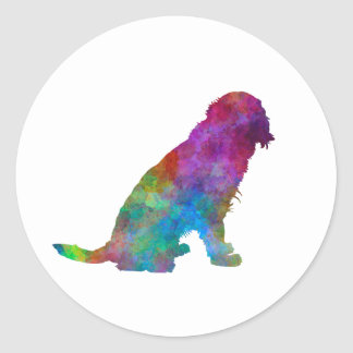 German Spaniel in watercolor Classic Round Sticker