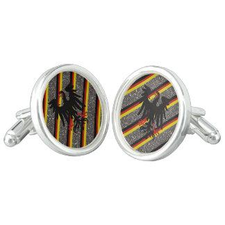 German stripes flag cufflinks