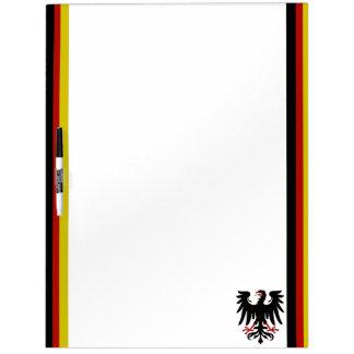 German stripes flag dry erase board