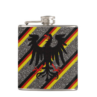 German stripes flag hip flask