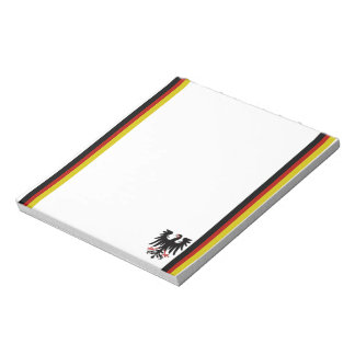 German stripes flag notepad