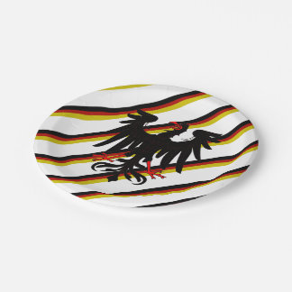 German stripes flag paper plate