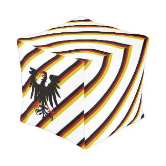 German stripes flag pouf