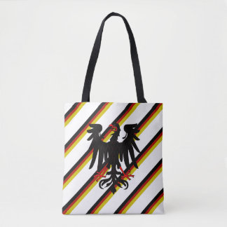 German stripes flag tote bag