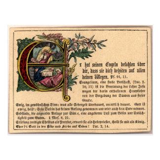 German Sunday School Card Postcard