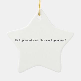 German -Sword Ceramic Ornament