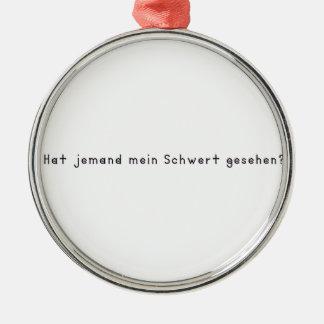 German -Sword Metal Ornament