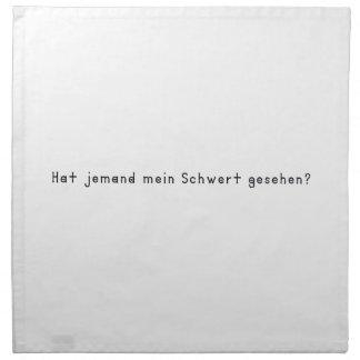 German -Sword Napkin
