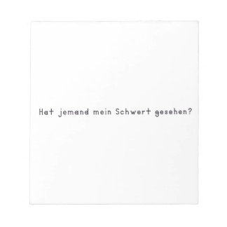 German -Sword Notepad