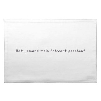 German -Sword Placemat