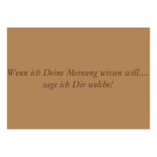 German Text - funny Pack Of Chubby Business Cards