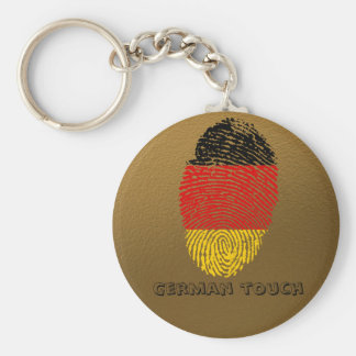 German touch fingerprint flag basic round button keychain