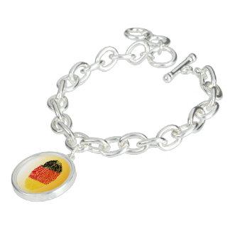 German touch fingerprint flag charm bracelet