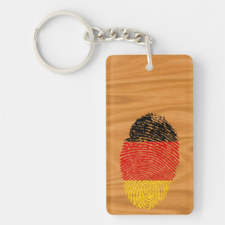 German touch fingerprint flag Double-Sided rectangular acrylic keychain