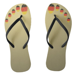 German touch fingerprint flag flip flops