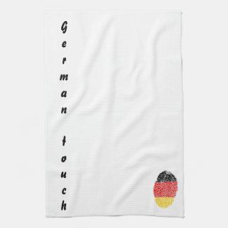 German touch fingerprint flag kitchen towel