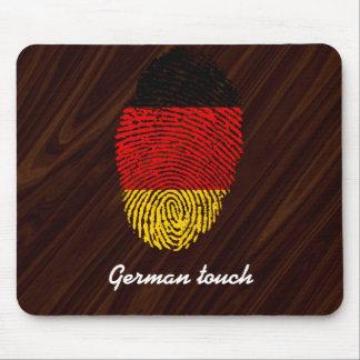 German touch fingerprint flag mouse pad