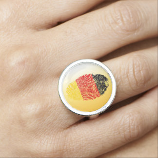 German touch fingerprint flag ring