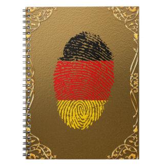 German touch fingerprint flag spiral notebooks