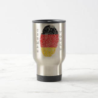 German touch fingerprint flag travel mug