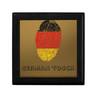 German touch fingerprint flag trinket box