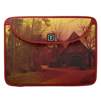 german town house in forest red tint mystic view sleeve for MacBooks