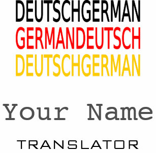 Interpreter business cards profile cards zazzle ca german translator or interpreter business cards colourmoves
