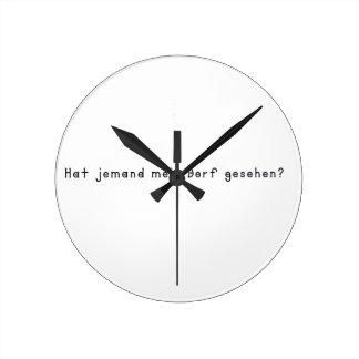 German -Village Round Clock