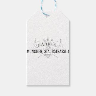 german vintage typography design gift tags