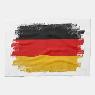 German wax pencil sketched flag kitchen towel