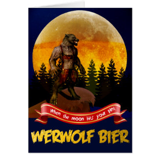 German Werwolf Bier - Bavarian Werewolf Card