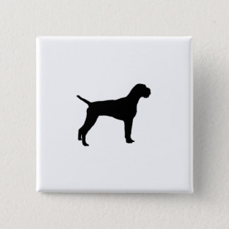 German Wire-Haired Pointer Silhouette Love Dogs 2 Inch Square Button