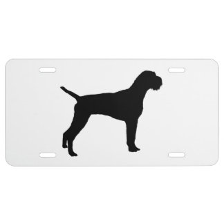 German Wire-Haired Pointer Silhouette Love Dogs License Plate
