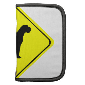 German Wired-Haired Pointer Dog Crossing Sign Folio Planners
