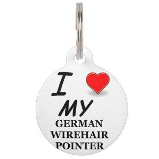 german wirehair love pet name tags