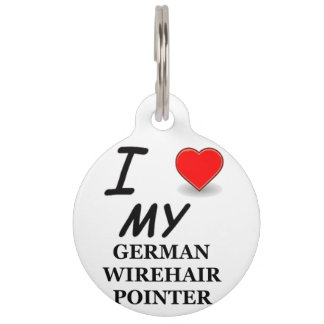 german wirehair love pet tag