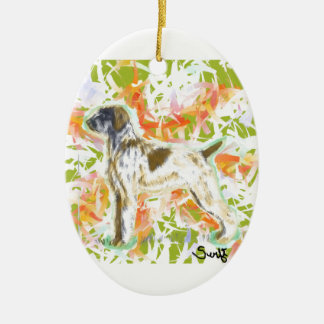 German Wirehaired Pointer Ceramic Oval Ornament
