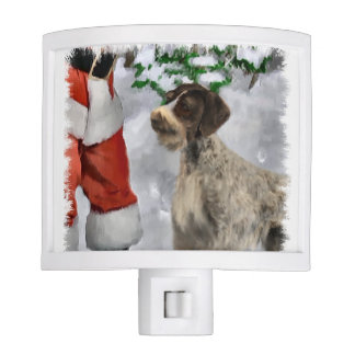 German Wirehaired Pointer Christmas Night Lite