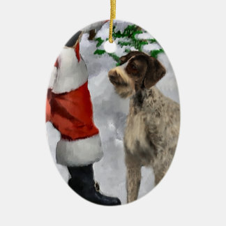 German Wirehaired Pointer Christmas Ornament