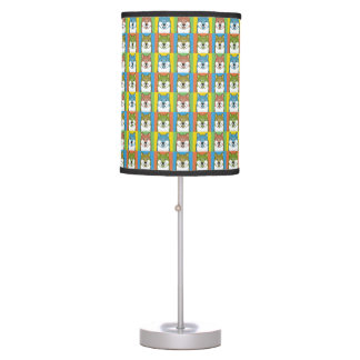 German Wirehaired Pointer Dog Cartoon Pop-Art Table Lamps