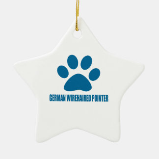 GERMAN WIREHAIRED POINTER DOG DESIGNS CERAMIC ORNAMENT