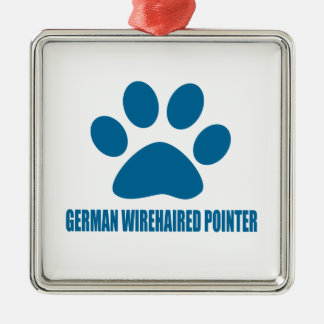 GERMAN WIREHAIRED POINTER DOG DESIGNS METAL ORNAMENT