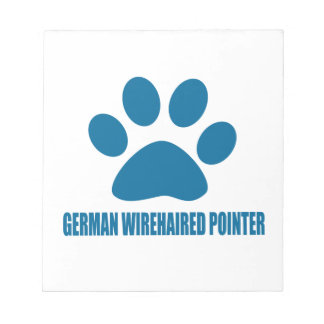 GERMAN WIREHAIRED POINTER DOG DESIGNS NOTEPAD