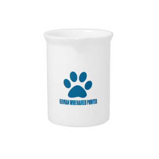 GERMAN WIREHAIRED POINTER DOG DESIGNS PITCHER