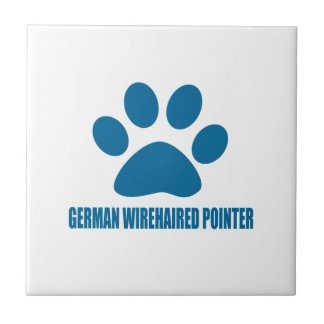 GERMAN WIREHAIRED POINTER DOG DESIGNS TILE
