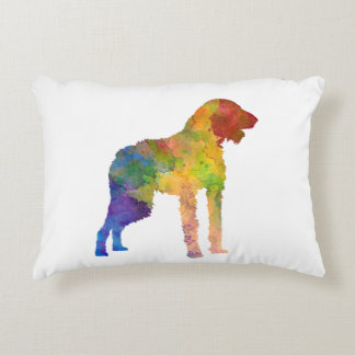 German Wirehaired Pointer in watercolor Decorative Pillow