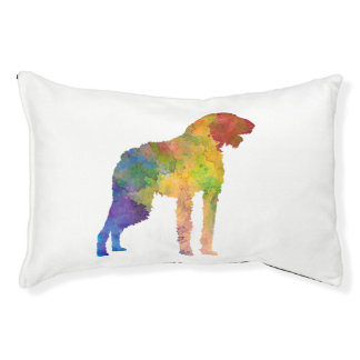 German Wirehaired Pointer in watercolor Pet Bed